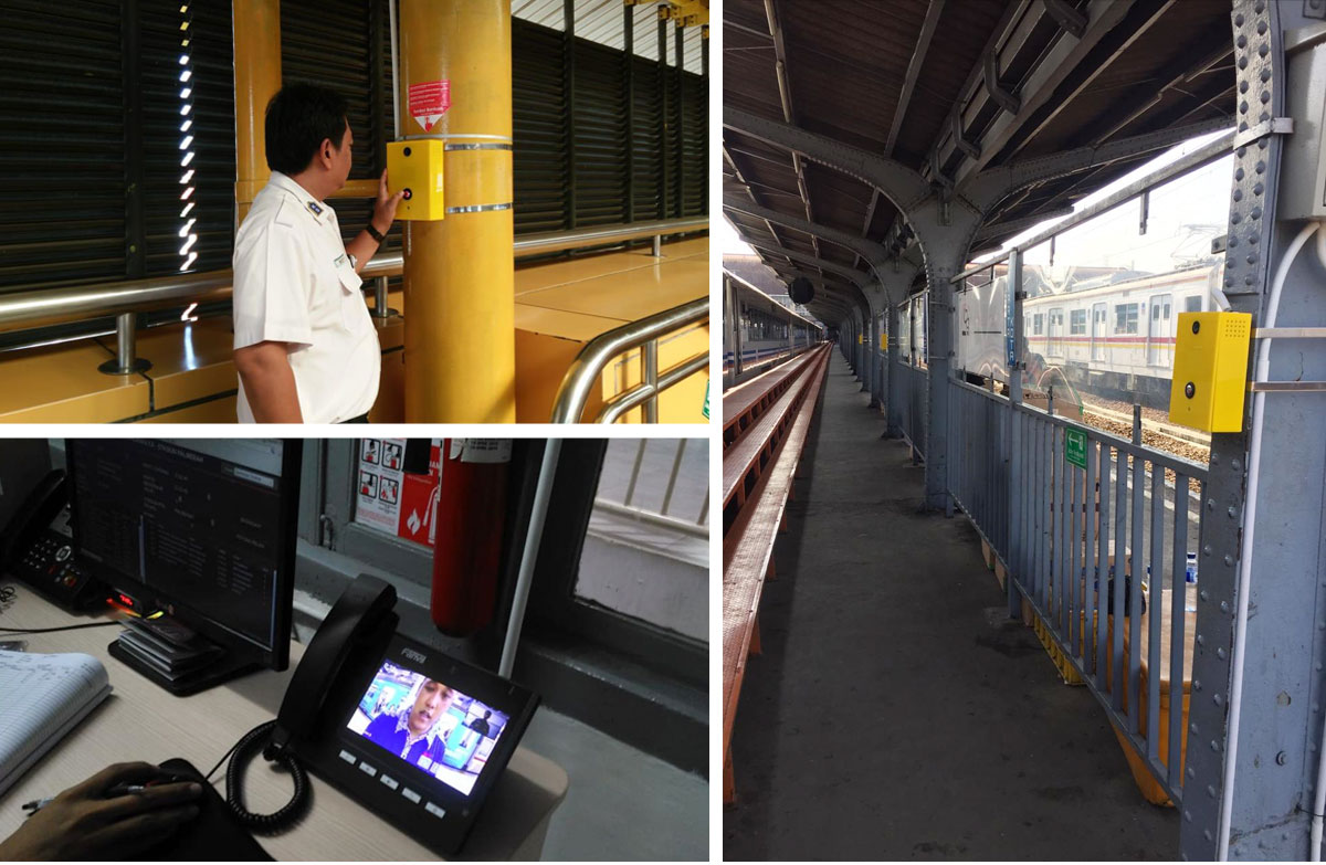 Emergency Call (Fanvil PA2) at Commuter Line Indonesia ( 10 Stasiun )