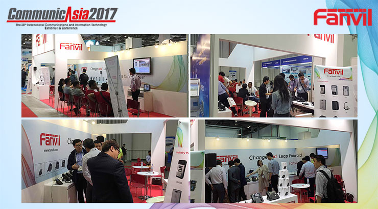 Fanvil 2017 CommunicAsia Exhibtion Ended Successfully